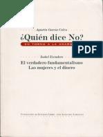¿Quien dice No. En torno a la anarquia - Agustin Garcia Calvo e Isabel Escudero - 1999
