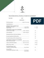 International Journal of Servant Leadership 2007