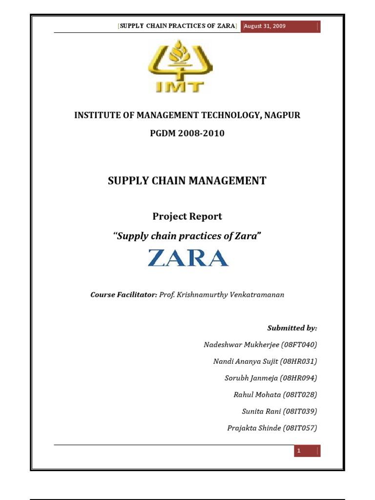 supply chain practices at zara retail supply chain management rh scribd com Process Flow Diagram Template Application Process Flow Diagram