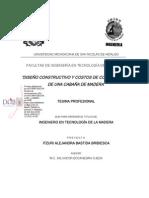 DISEÑOCONSTRUCTIVOYCOSTOSDECONSTRUCCION DEUNACABAÑADEMADERA