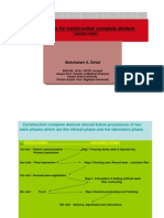 Steps of Construction Complete Denture