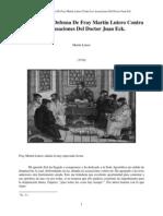 1519-Disputación y Defensa de Fray Martín lutero Contra las Acusaciones del Dr Eck