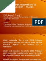Plan Estratégico de Educación  2009