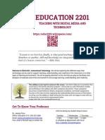 EDUC2201 Syllabus