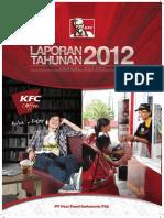 Laporan Keuangan KFC Indonesia 2012