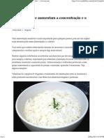 Alimentos que aumentam a concentração e o raciocínio — www.eucomi.com