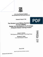 The Division Level Military Decision-Making Process (MDMP)
