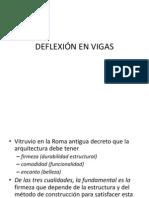 DEFLEXIÓN EN VIGAS