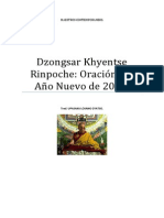 Dzongsar Khyentse Rinpoche Oración de Año Nuevo 2014.