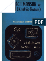 Hallâc-ı Mansur ve Eseri Kitâb'ut Tavâsin - Y.N.Öztürk
