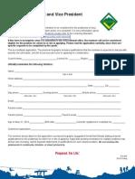 Venturing President Nomination Form