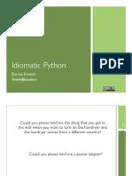 Idiomatic Python