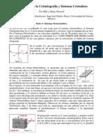 Introducción a la Cristalografia y Sistemas Cristalinos