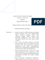 UU Nomor 11 Tahun 2009 Tentang Kesejahteraan Sosial