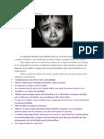 La Depresion Infantil