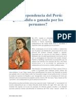La independencia del Perú - 1º artículo.pdf