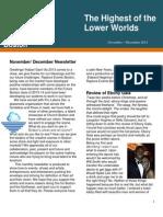 Newsletter Nov to Dec