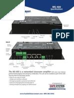 MS 400 Spec Sheet