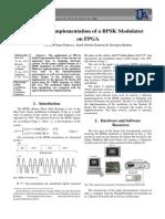 Modern Implementation of a BPSK Modulator on FPGA