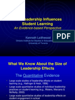 Four Paths of Influence Kenneth Leithwood