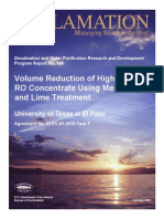 Report108 Vol Reduction -High Silica RO Conc-lime Treatment