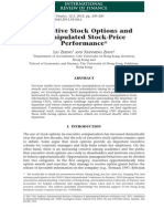 Executive Stock Options and Manipulated Stock-Price Performance