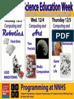 NNHS Computer Science Education Week Poster