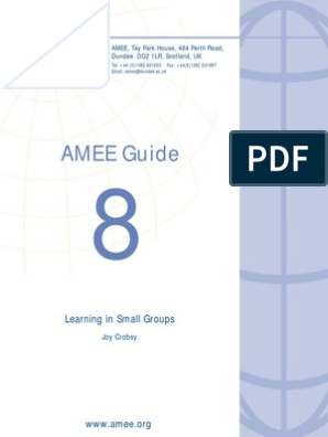 AMEE Guide 08 Learning in Small Group | Simulation | Learning