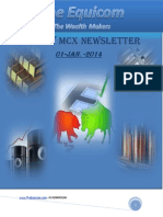 MCX Commodity Newsletter By Theequicom 1-January