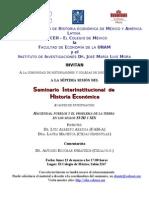 23 UNAM Facultad de Economia Seminario Interinstitucional de Historia Economica