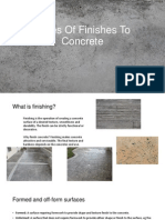 finishes to concrete