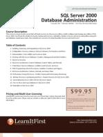 SQL Server 2000 Database Administration