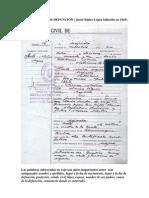 Ejemplo de Acta de Defuncion