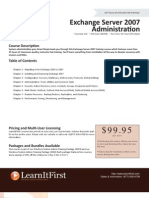 Exchange Server 2007 Administration