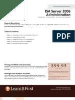 ISA Server 2006 Administration