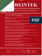 JURNAL RAINTEK, Nomor Daftar Isi 1, VOL 7 No 2, Desember 2012, Halaman 101 - 110.