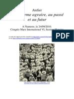24 Programme provisoire, Atelier La Réforme agraire, Nanterre, septembre 2010
