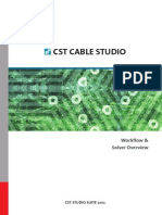 CST CABLE STUDIO - Workflow and Solver Overview