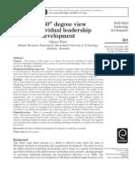 360 Degree View for Individual Leadership Development