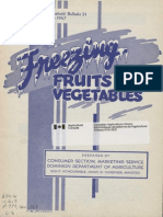 Freezing fruits and vegetables (1947)