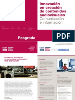 Folleto posgrado innovación audiovisual