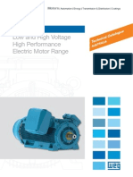 WEG Hgf Low and High Voltage High Performance Electric Motor Range Broa017 Brochure English
