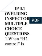 CSWIP 3.1 (WELDING INSPECTOR) MULTIPLE CHOICE QUESTIONS