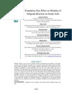 Aminaton Marto - Foundation Size Effect on Modulus of Subgrade Reaction on Sandy Soils