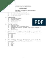 ASME SECTION IX QUESTIONS