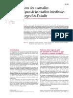 Complications Des Anomalies Embryologiques de La Rotation In