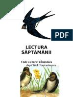 LECTURA   SÃPTÃMÂNII- 4