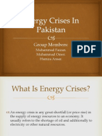 Presentation on Energy Crisis (Faizan)