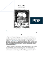 Benito Perez Galdos - 7 de Julio (1876)