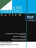 Monash Debating Review 2012